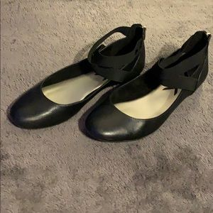 Used Anne Klein Sport Itcanbe Black Flats Size 10m